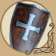 LARP Templar Shield Wood & Metal
